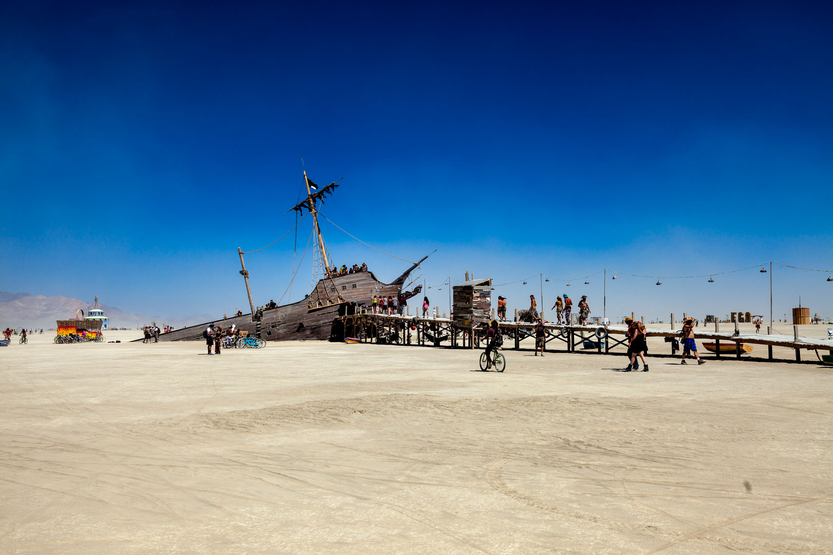 Burning Man Shipwreck