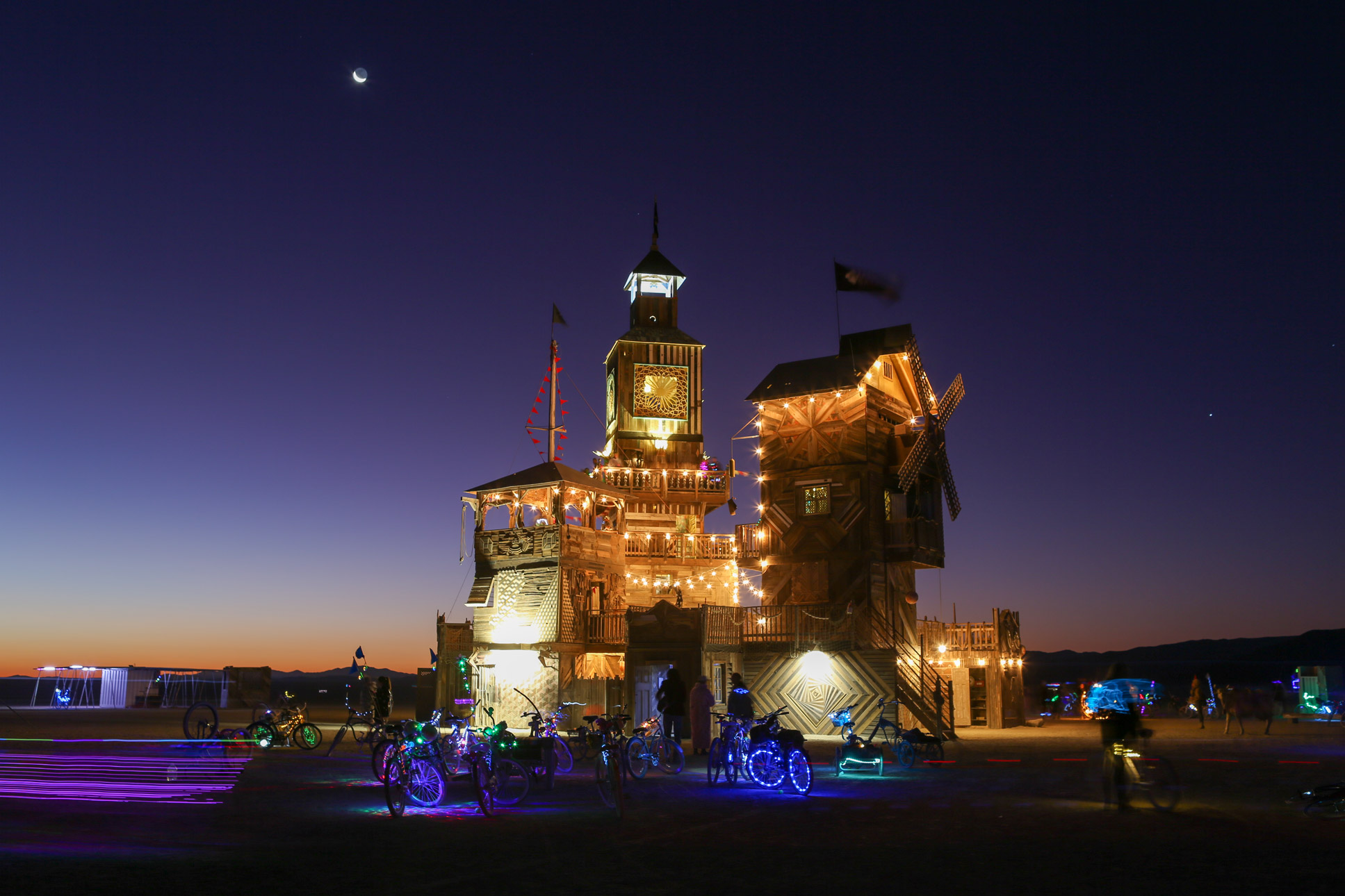 The Folly at Burning Man Sunrise