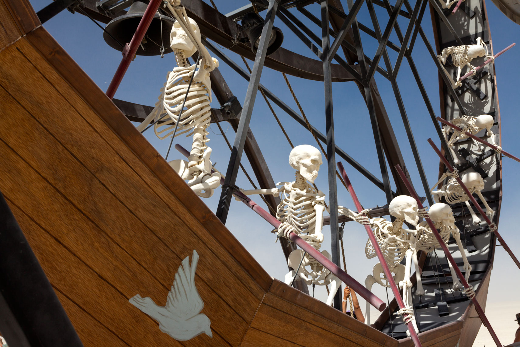 Burning Man Skeletons