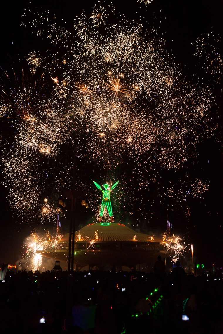 Burning Man Fireworks