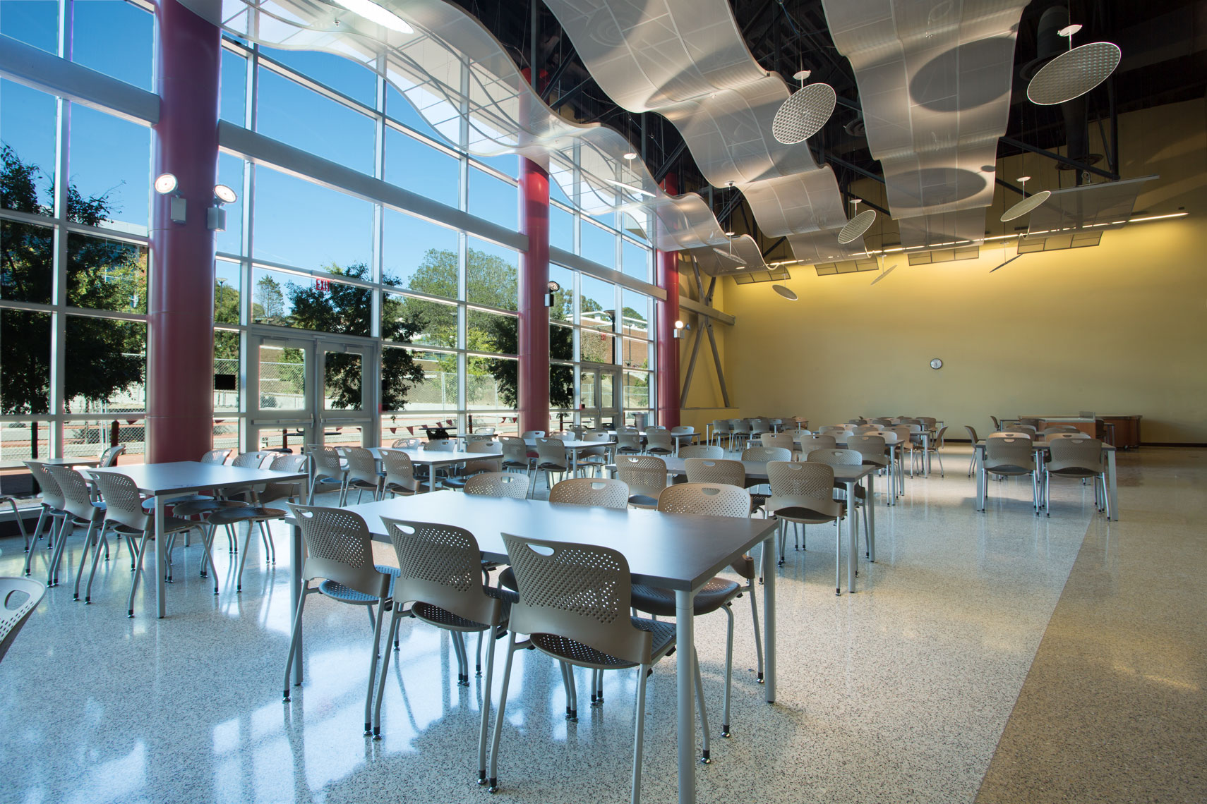 Cafeteria Interiors at Community College
