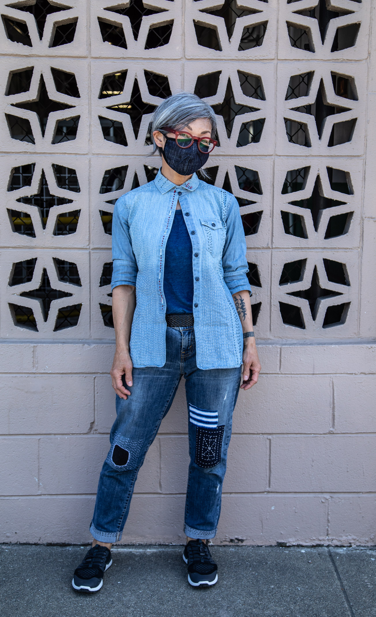 Happi Mask Denim Mask