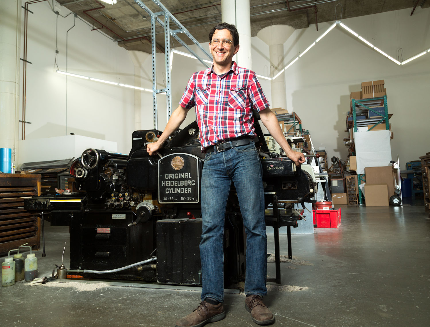 Joel Benson and his Heidelberg Press