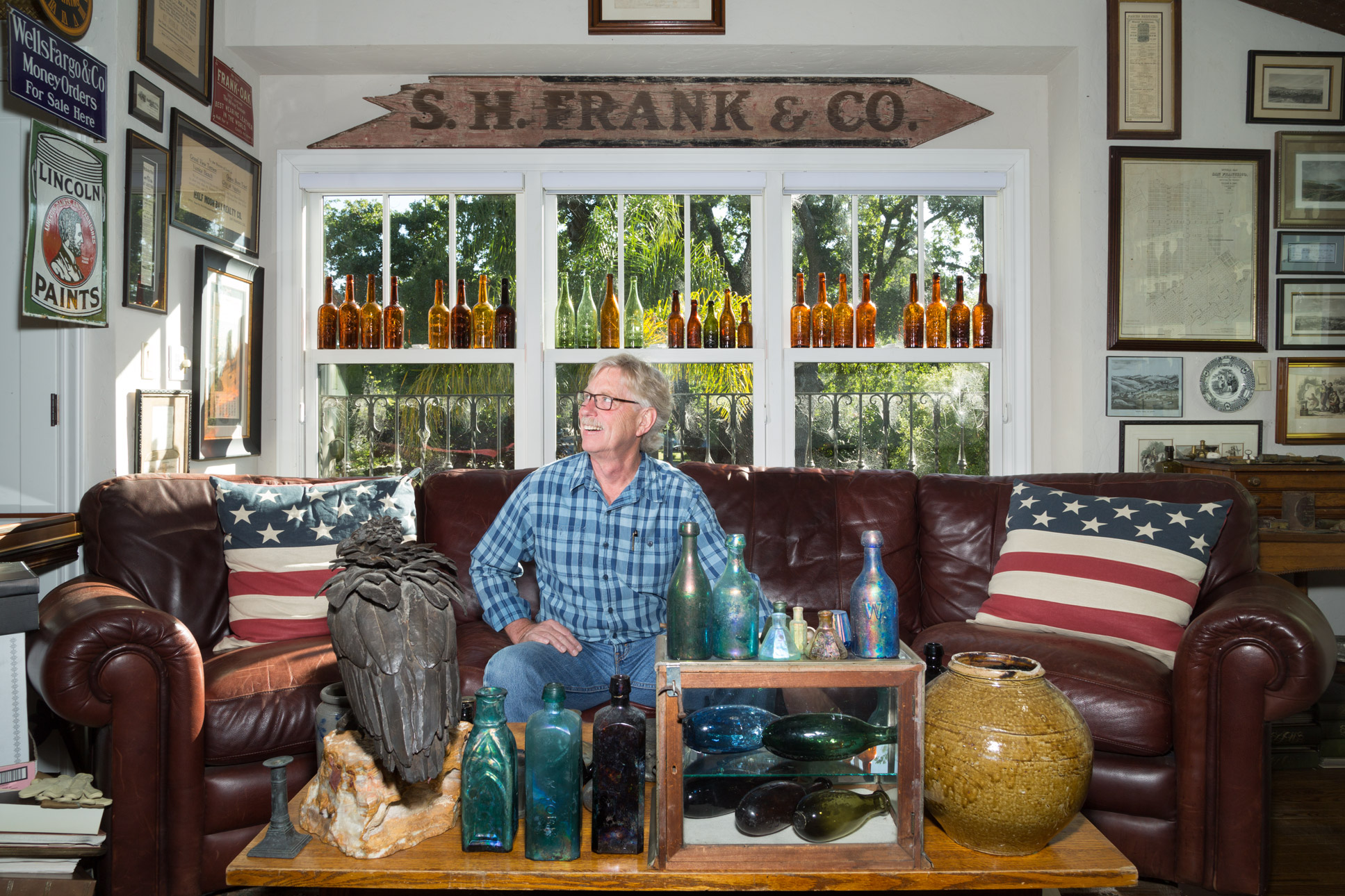 John Shroyer and Vintage Bottles
