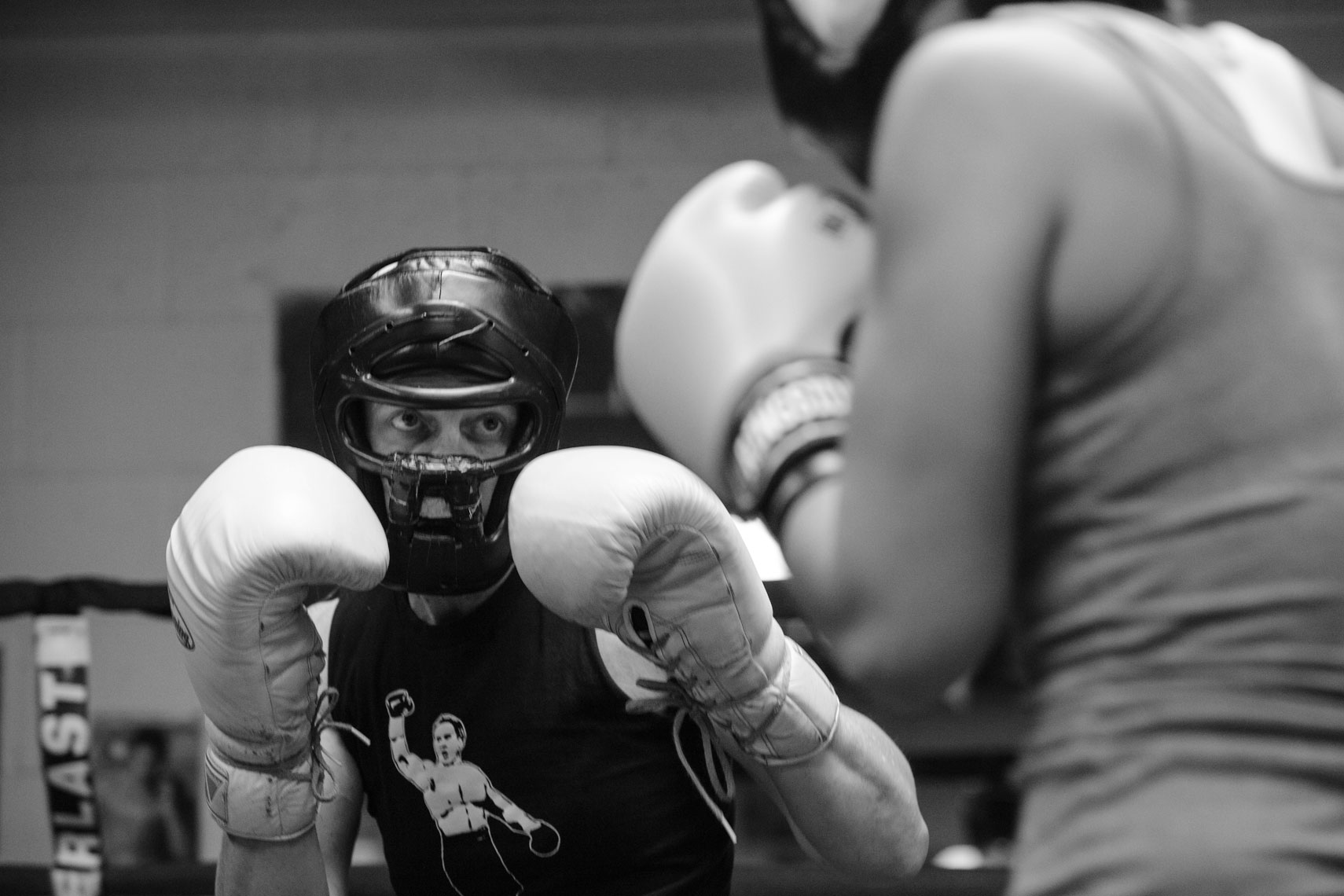 Boxer Laura Deanovic Spars in Training