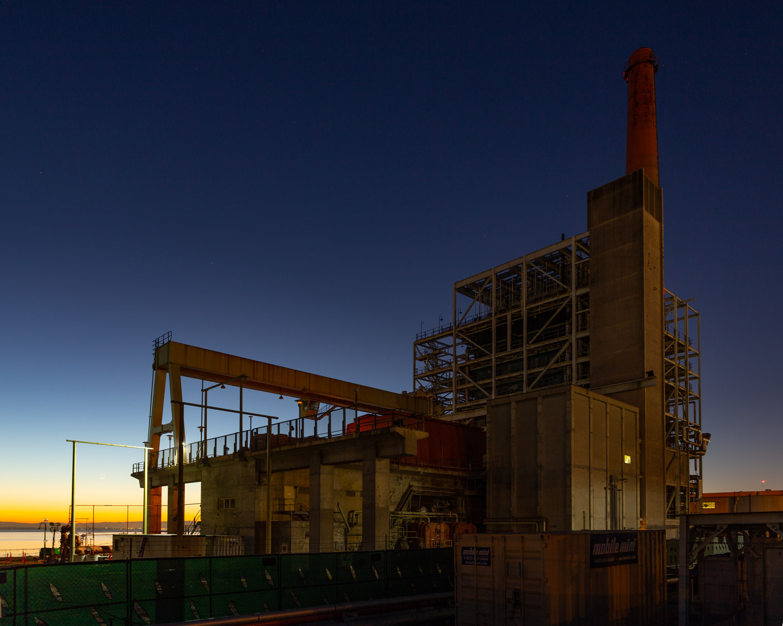 The Dogptach Power Station at Sunrise