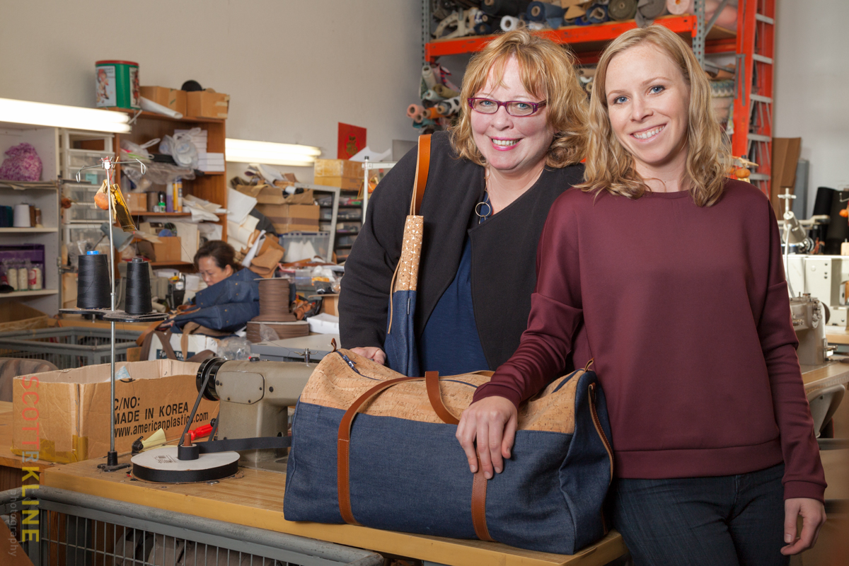 Bonnie and Sarah Gemmell are the mother-daughter team behind Spicer Bags.