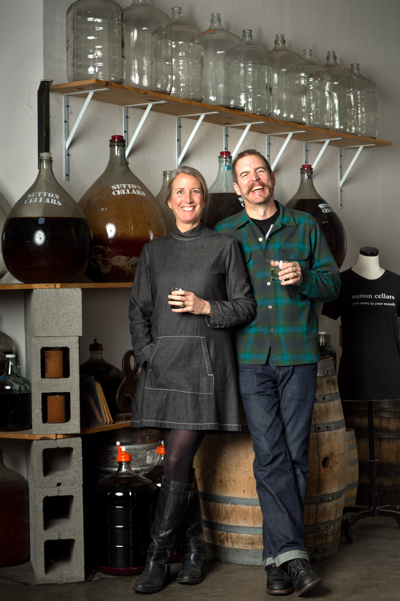 Sharon and Carl Sutton of Sutton Cellars in Dogpatch